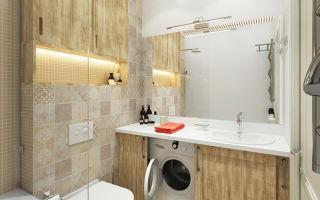 Дизайн ванной комнаты в брежневке