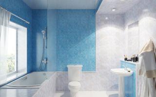 Отделка ванных комнат пластиковыми панелями: фото интерьеров