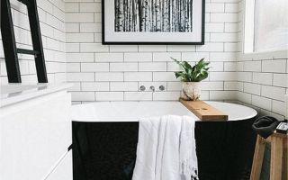 Черно-белая ванная комната, идеи и советы по созданию дизайна