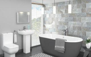 Ванная комната в серых тонах, серый как «трамплин» для вдохновения.