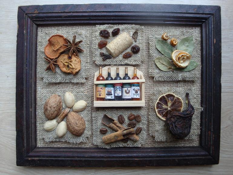 Коллаж из пряностей для кухни своими руками