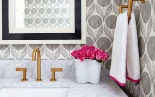 Обои в дизайне ванной комнаты, как подобрать то что вам нужно и не ошибиться с выбором, практические советы.