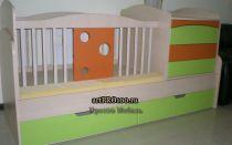 Дизайн проект детской кроватки трансформера с чертежами и фото