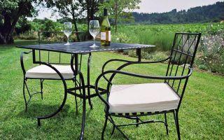 Садовая мебель и декор из металла: возможные варианты оформления сада