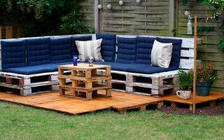 Садовая мебель из поддонов своими руками: идеи, способы изготовления