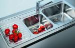 Обзор накладных кухонных моек: виды, размеры, фото, принцип монтажа