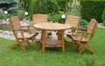 Деревянная мебель для сада и дачи: варианты оформления