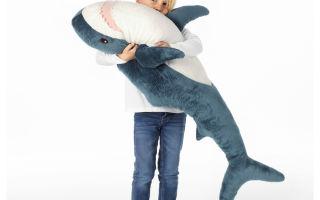 Акула из Икеи. Материалы и размеры. Фотоагаллерея и видеоотзыв