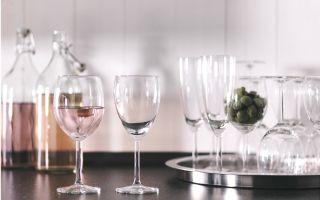 Стаканы из Икеа.  Обзор бокалов для различных напитков