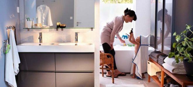 Мебель для ванной от ИКЕА: 25 фото стильных интерьеров ванных комнат