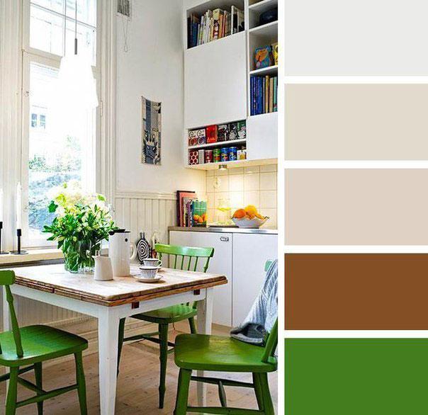 Кухня в зелено-коричневом цвете
