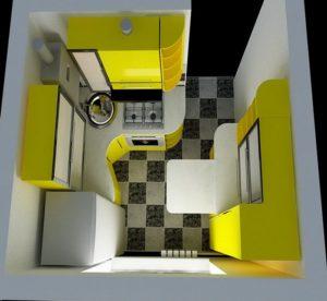 раковина в углу кухни 2