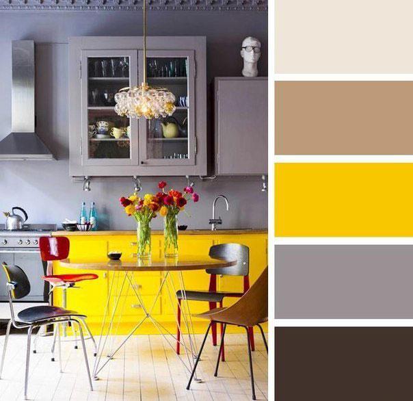 Кухня в ярко желтом цвете