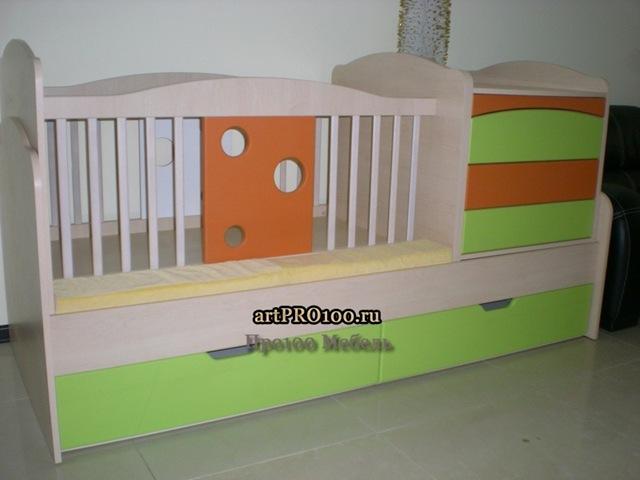Дизайн проект детской кроватки трансформера