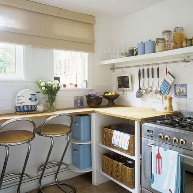 Уютный дизайн малогабаритной кухни