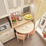 Дизайнерское оформление маленькой кухни
