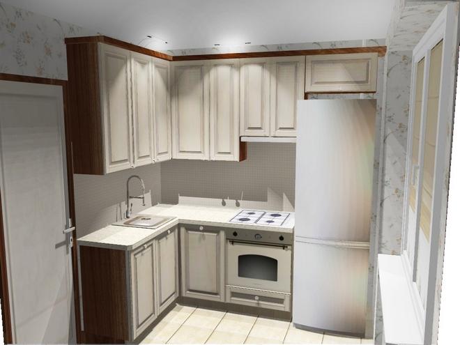 Комфортная кухня с вертикально ориентированной мебелью