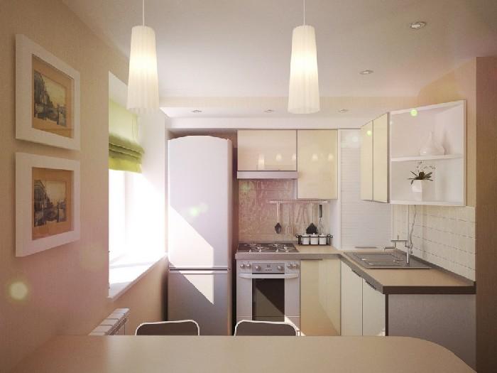 кухня в спокойных цветовых оттенках