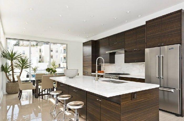 кухня цвета коричневого венге