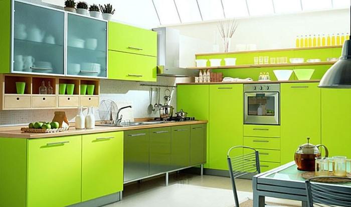 лаймовый цвет кухни