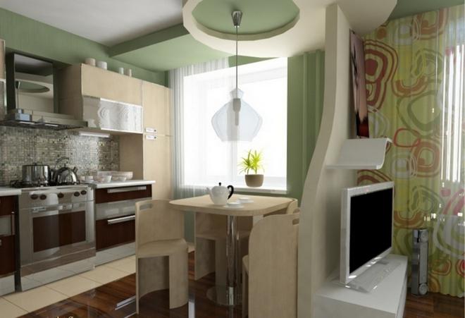 Объединение кухни с гостиной