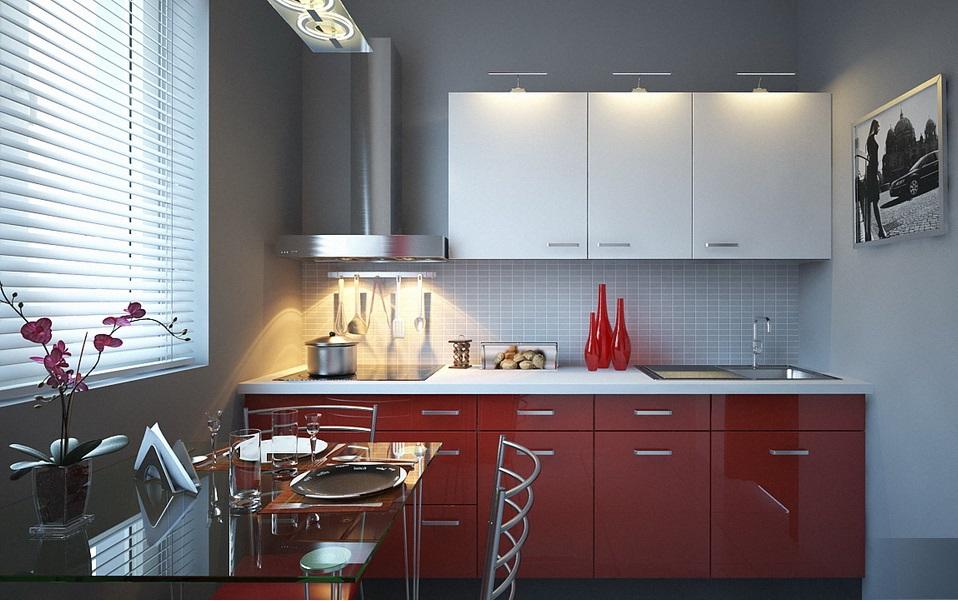 Оформление кухни 4 м