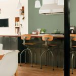 Покрашенные стены кухни