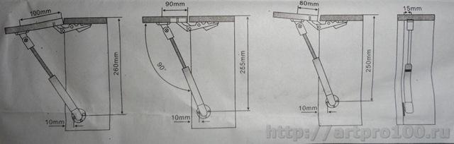 Регулировка газового мебельного амортизатора