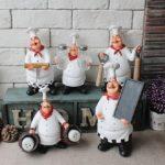 Стильные статуэтки в интерьере кухни