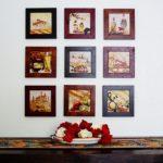 Украшение стен картинами