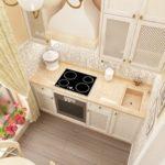 Встраиваемая плита позволяет съекономить пространство