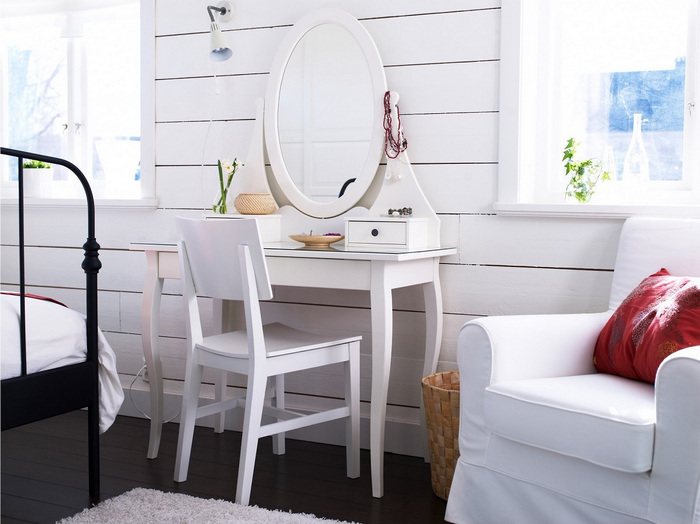 туалетные столики икеа в интерьере обзор столиков Ikea фото