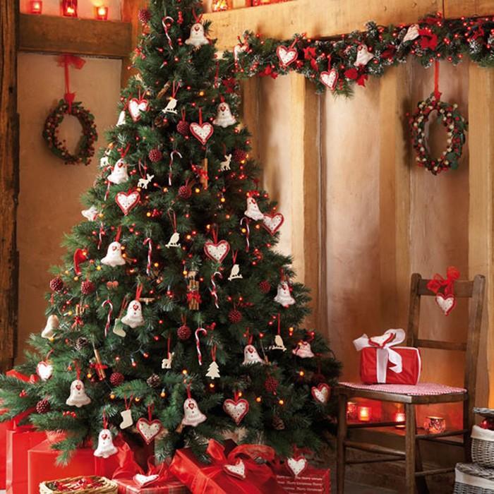 украшение елки на новый год 2017
