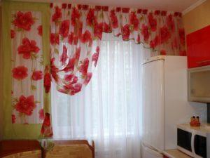 текстиль шторы в кухне
