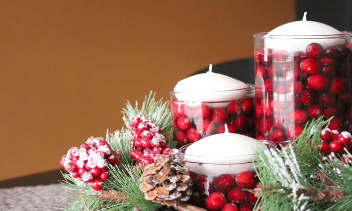 свечи с ягодами