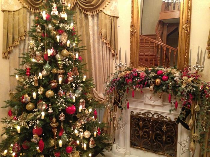 декорированная елка 2017