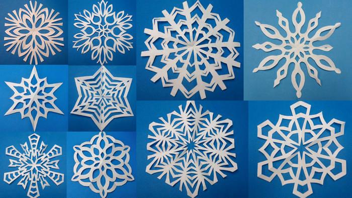 образцы снежинок