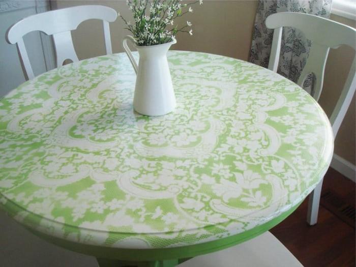 Традиционная покраска стола 05