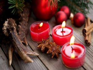 свечи стаканчики красные