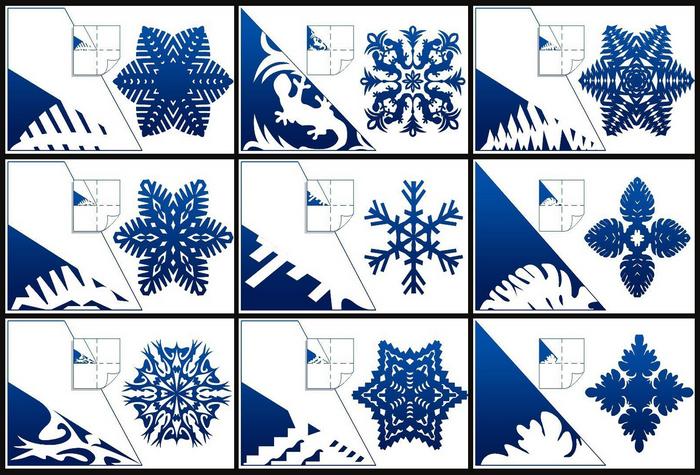инструкция по шестиконечным снежинкам