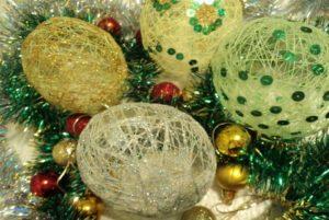 шары для елки своими руками 3