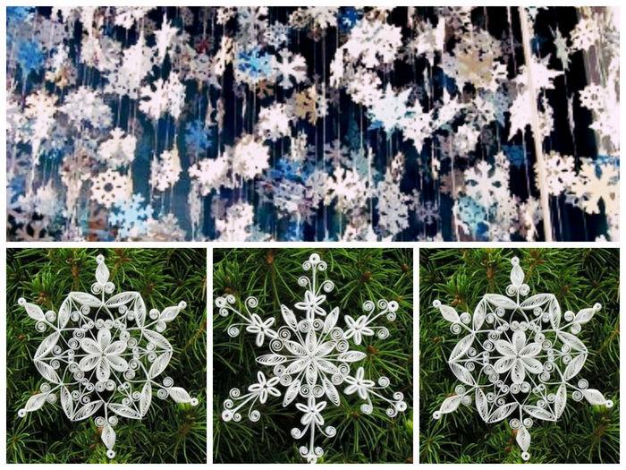 снежинки из бумаги вырезанные