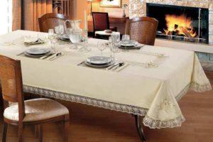 белый праздничный стол