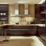 интерьер кухни в высокотехнологичном и строгом стиле хай тек