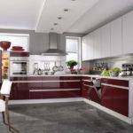 интерьер кухни в высокотехнологичном и строгом стиле хай тек 08a