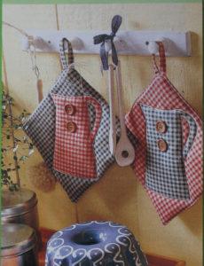 матерчатые принадлежности в кухне