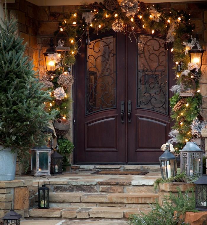 Украшение дома на Новый год своими руками. Оформление фасада
