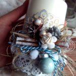 свеча веночек с декором