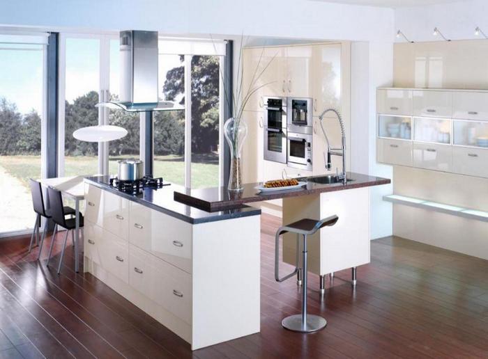Отличные решения для оформления кухни хай тек 12а