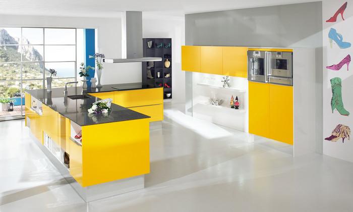 Отличные решения для оформления кухни хай тек 12b